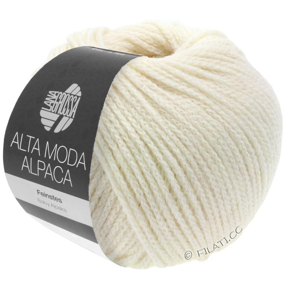 Lana Grossa ALTA MODA ALPACA | 14-чисто-белый