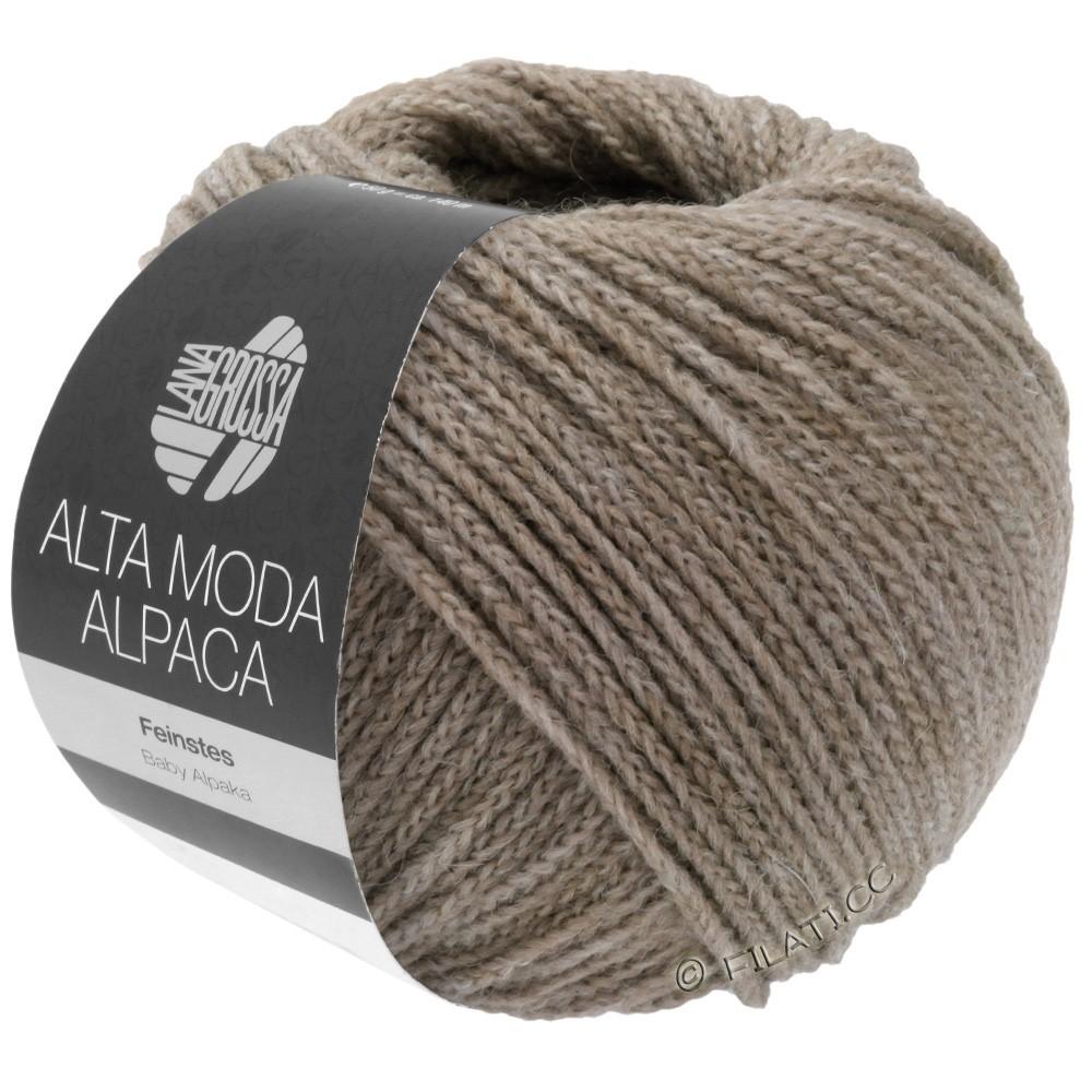 Lana Grossa ALTA MODA ALPACA | 15-серый/бежевый меланжевый