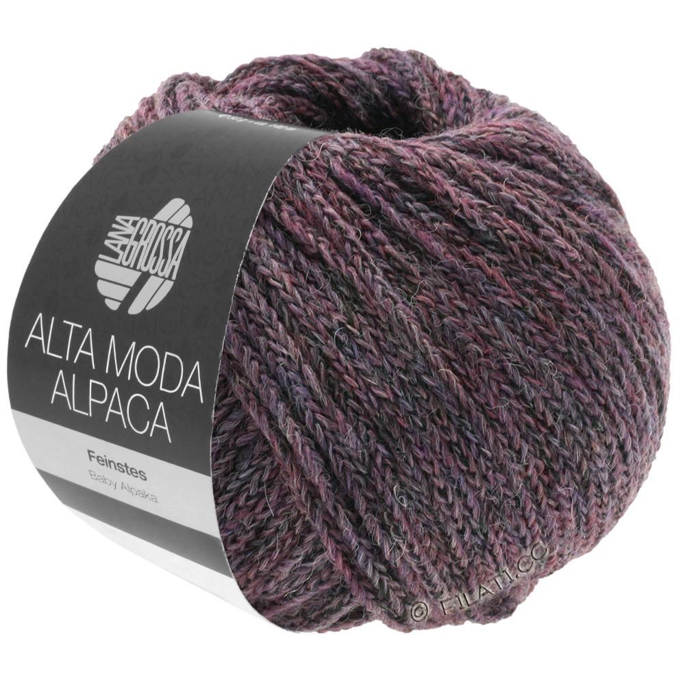 Lana Grossa ALTA MODA ALPACA | 20-ежевика/серый меланжевый