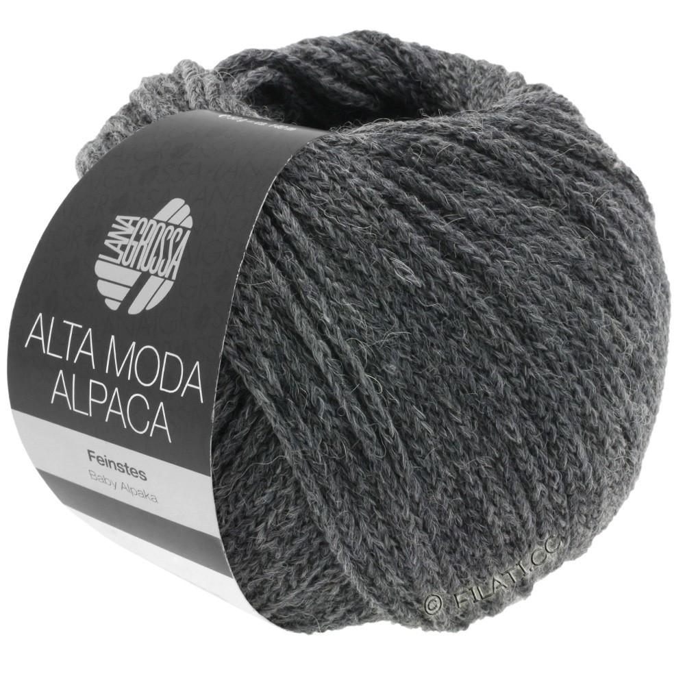 Lana Grossa ALTA MODA ALPACA | 22-тёмно-серый меланжевый