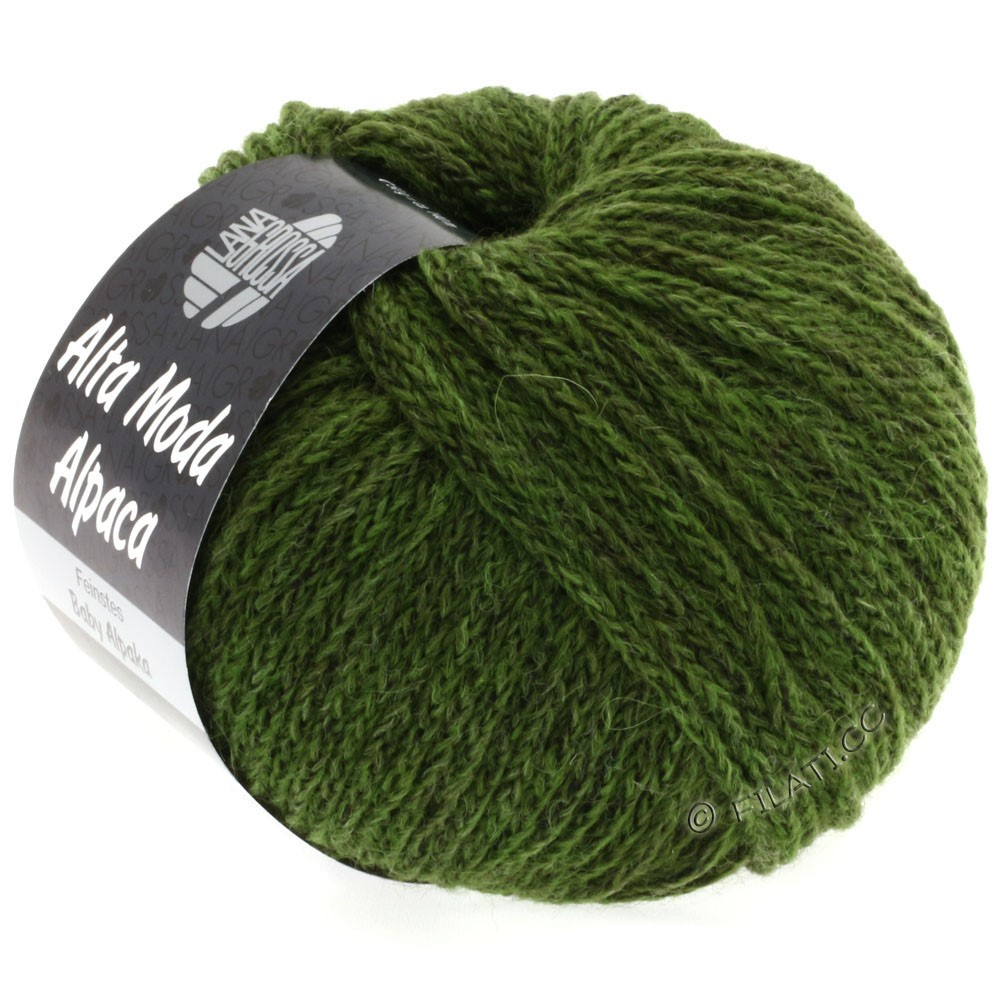 Lana Grossa ALTA MODA ALPACA | 28-тёмно-зелёный меланжевый