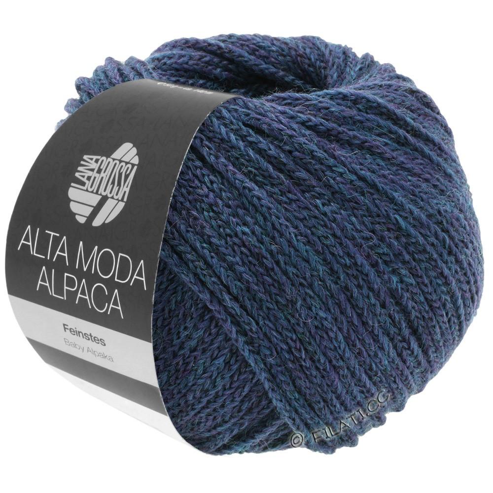 Lana Grossa ALTA MODA ALPACA | 36-петроль/королевский меланжевый