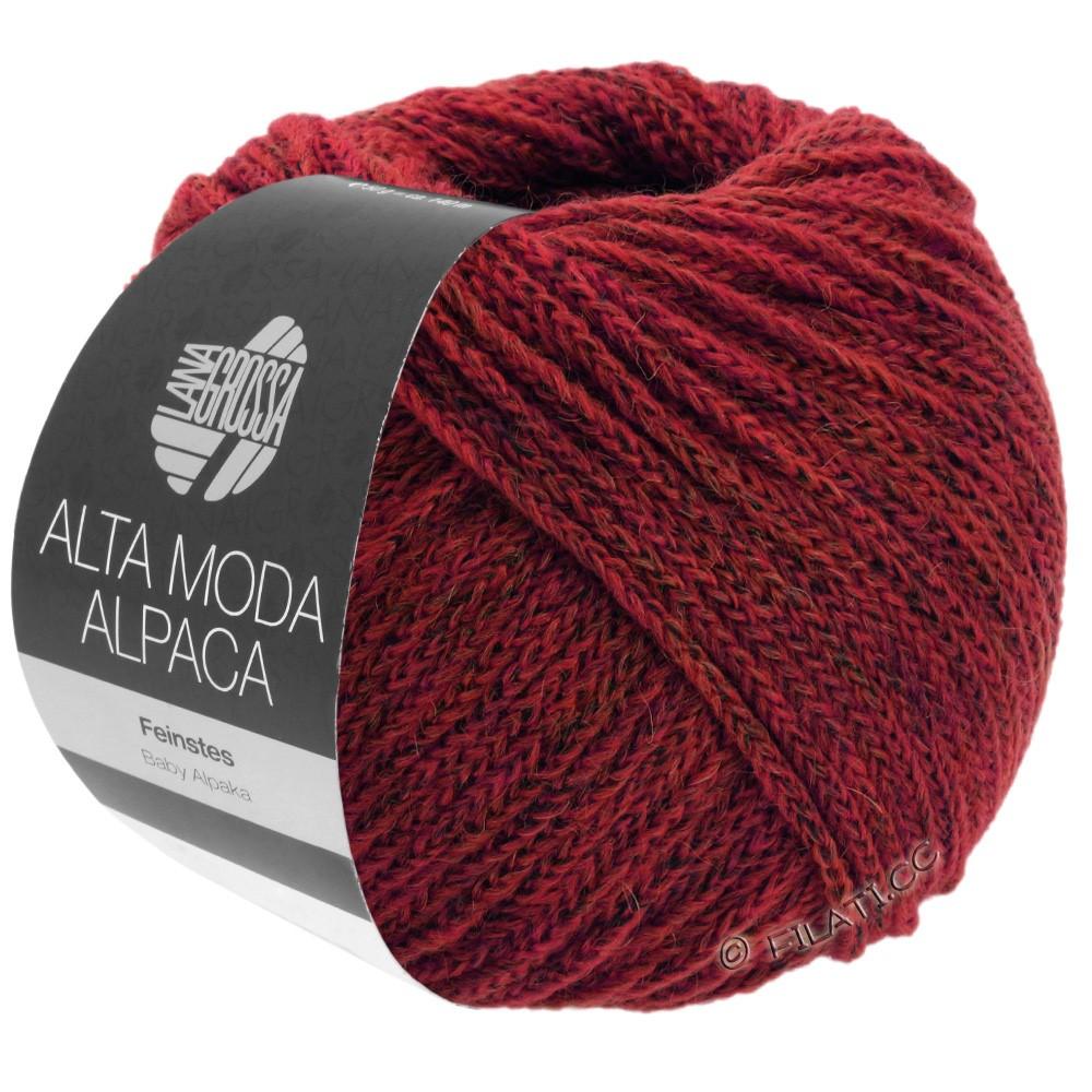 Lana Grossa ALTA MODA ALPACA | 40-тёмно-красный меланжевый