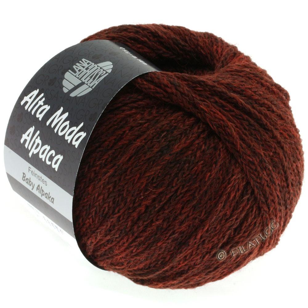 Lana Grossa ALTA MODA ALPACA | 41-красно-коричневый меланжевый