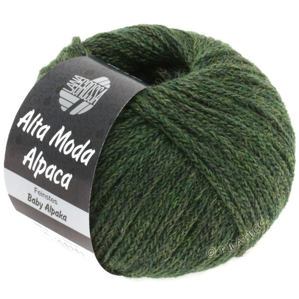 Lana Grossa ALTA MODA ALPACA | 49-темно-зеленый меланжевый