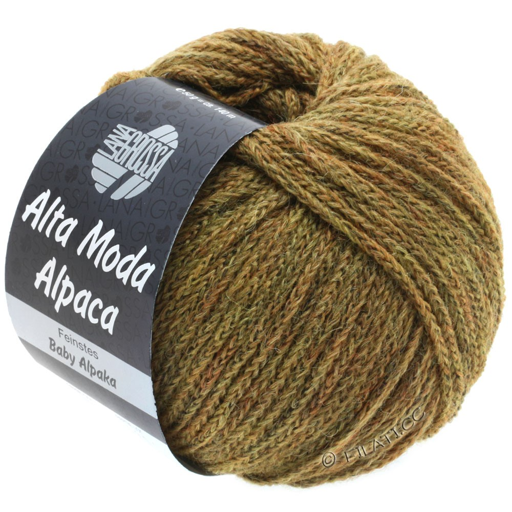 Lana Grossa ALTA MODA ALPACA | 50-золотисто-коричневый меланжевый