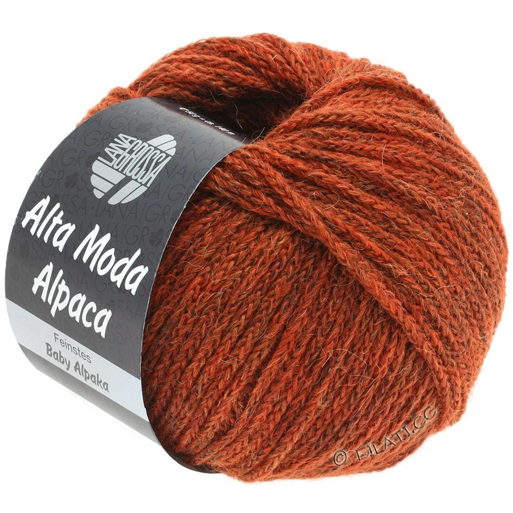 Lana Grossa ALTA MODA ALPACA | 51-красно-коричневый меланжевый