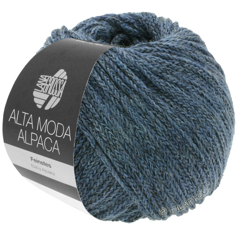 Lana Grossa ALTA MODA ALPACA | 60-серо-синий меланжевый