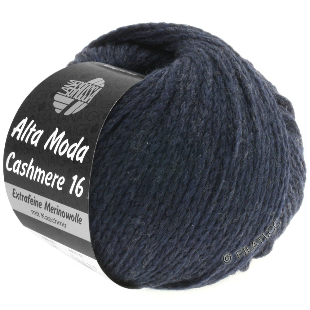 Lana Grossa ALTA MODA CASHMERE 16   011-тёмно-синий