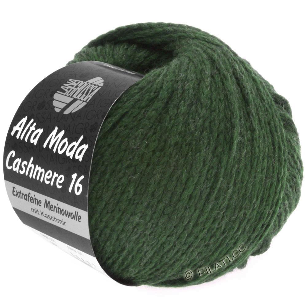 Lana Grossa ALTA MODA CASHMERE 16 Uni/Degradé | 020-темно-зеленый