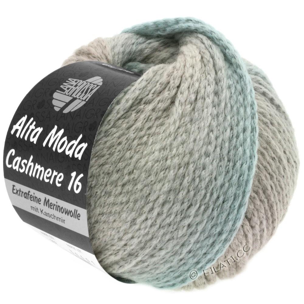 Lana Grossa ALTA MODA CASHMERE 16 Uni/Degradé | 106-серо- бежевый/серебристо-серый/светло-серый/синяя пастель