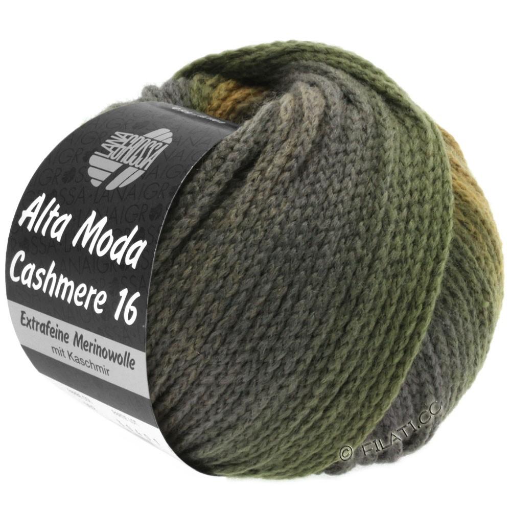 Lana Grossa ALTA MODA CASHMERE 16 Uni/Degradé | 109-бежевый/легко коричневый/зеленый сено/антрацитовый