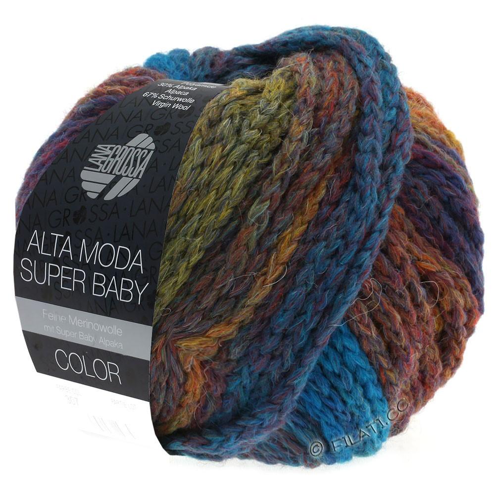Lana Grossa ALTA MODA SUPER BABY  Color | 301-петроль/оливковый/медь/тёмно-красный
