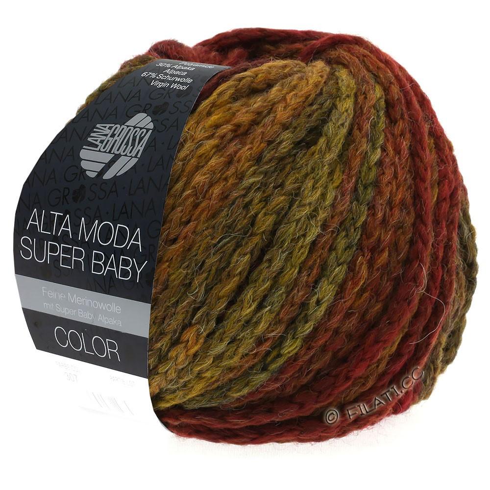 Lana Grossa ALTA MODA SUPER BABY  Color | 302-тёмно-красный/горчичный/кирпично-красный/коричневый