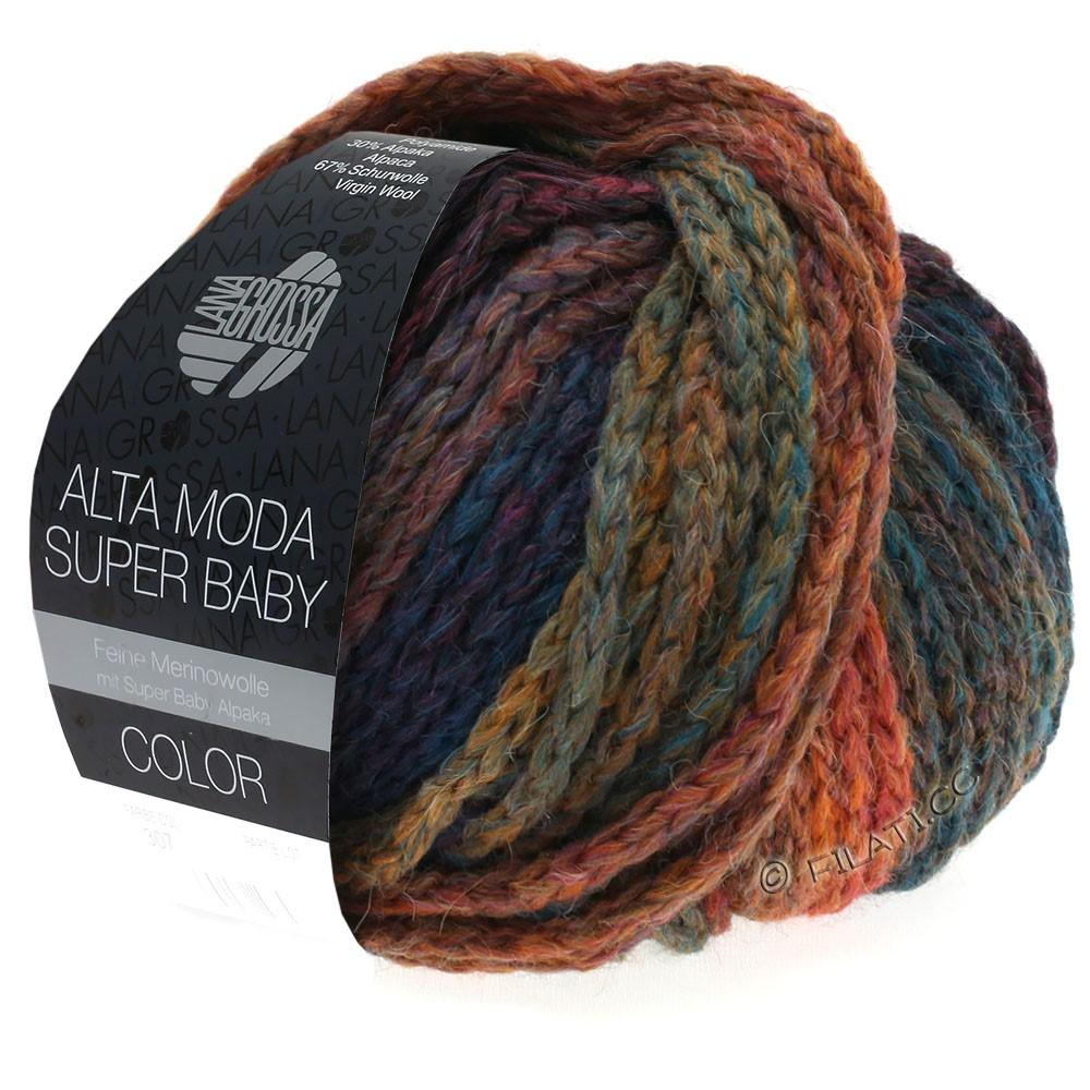 Lana Grossa ALTA MODA SUPER BABY  Color | 304-медь/горчичный/петроль/тёмно-синий/фиолетовый