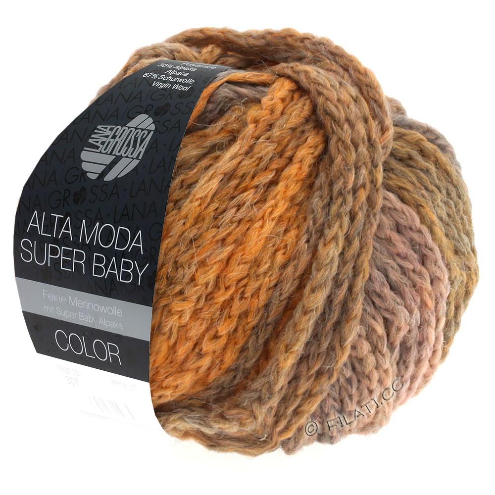 Lana Grossa ALTA MODA SUPER BABY  Color | 306-светло-серый/светло-оранжевый/ветхо-розовый