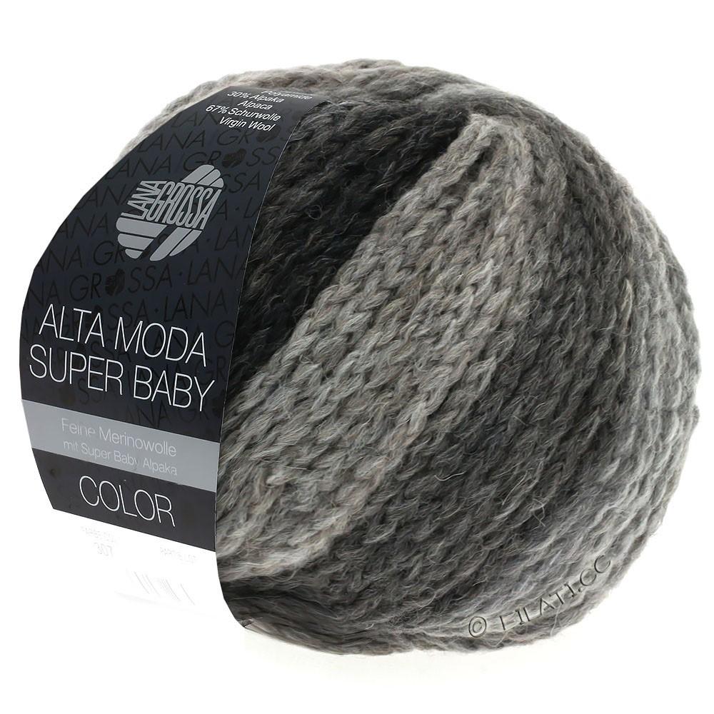 Lana Grossa ALTA MODA SUPER BABY  Color | 308-светло-серый/тёмно-серый/антрацитовый