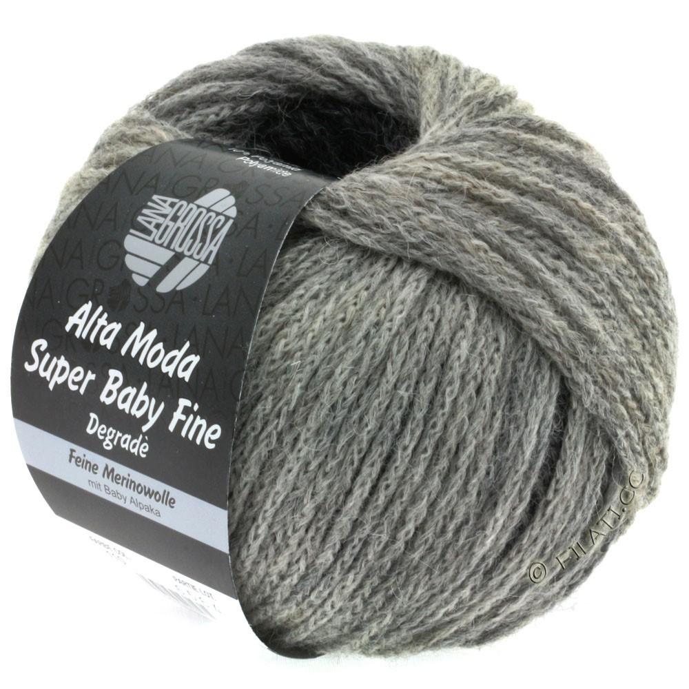Lana Grossa ALTA MODA SUPER BABY FINE Degradè | 110-светло-серый/средне-серый/тёмно-серый/антрацитовый