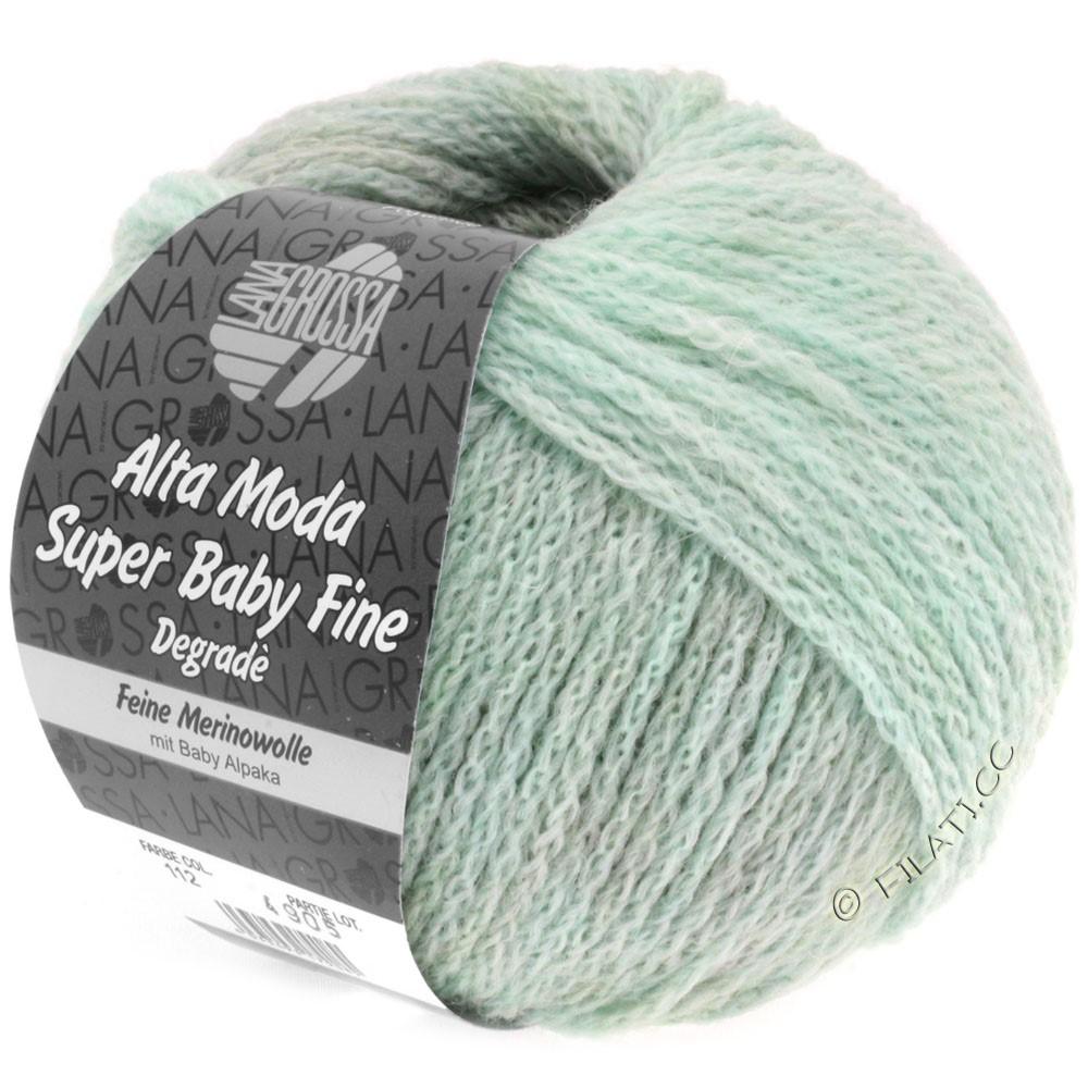 Lana Grossa ALTA MODA SUPER BABY FINE Degradè | 112-мята/серый/натуральный
