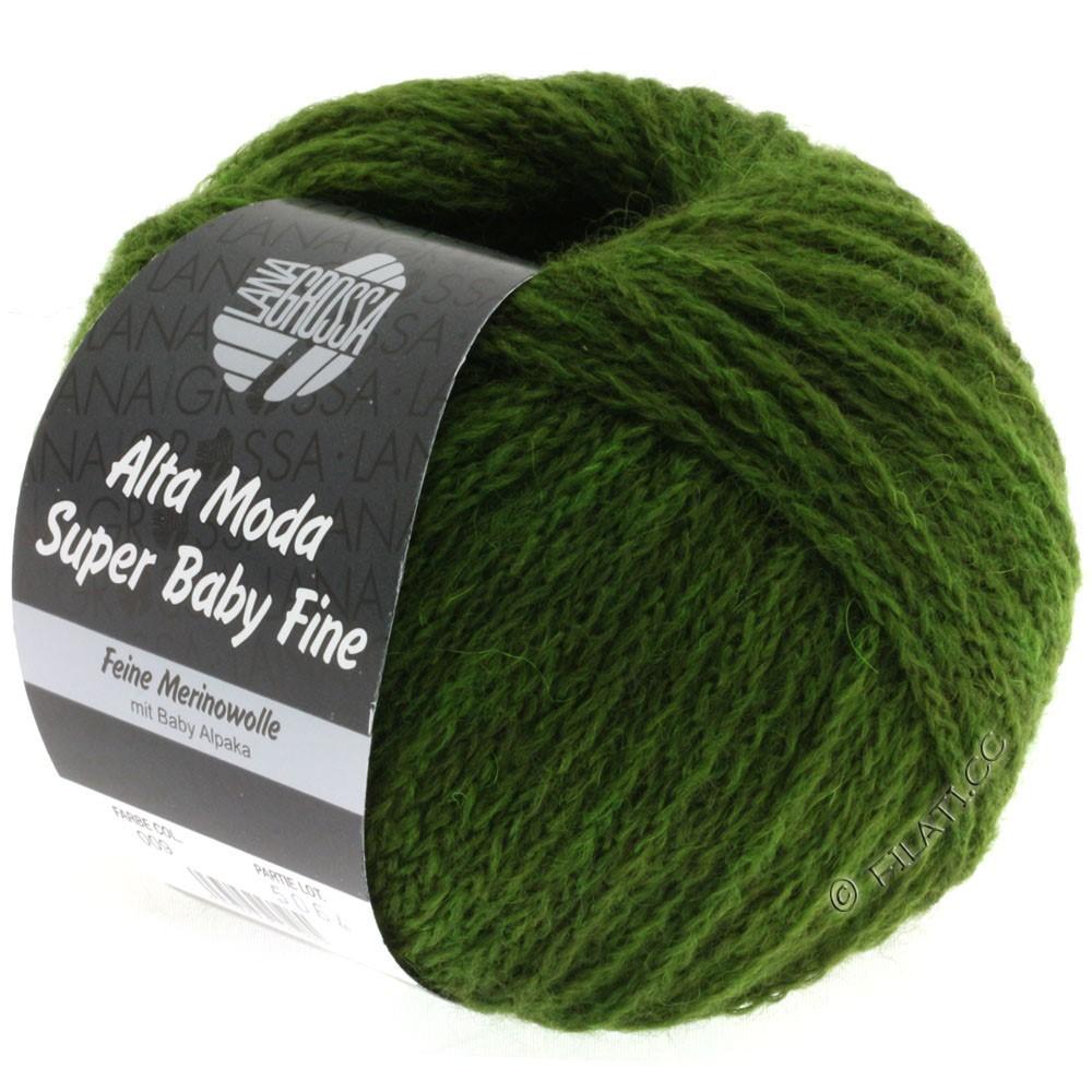 Lana Grossa ALTA MODA SUPER BABY FINE Uni | 09-оливково-зелёный