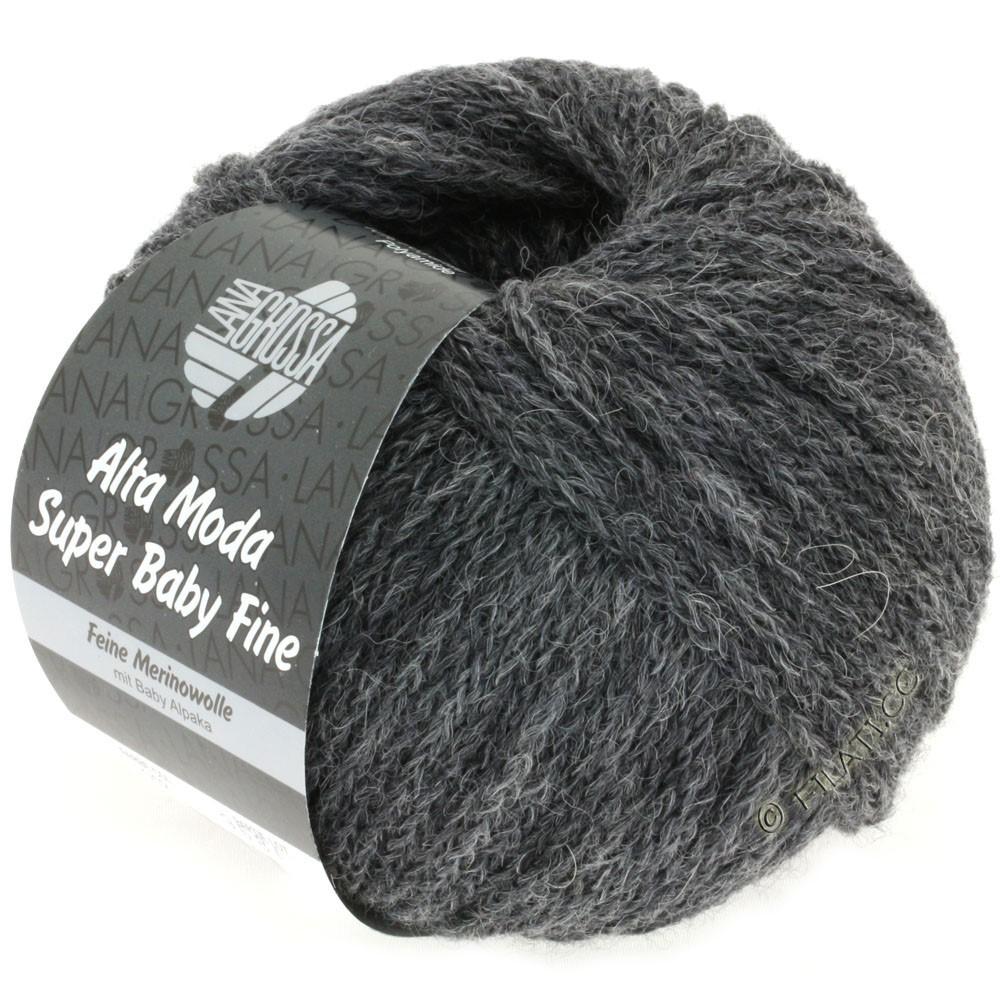 Lana Grossa ALTA MODA SUPER BABY FINE Uni | 12-тёмно-серый меланжевый