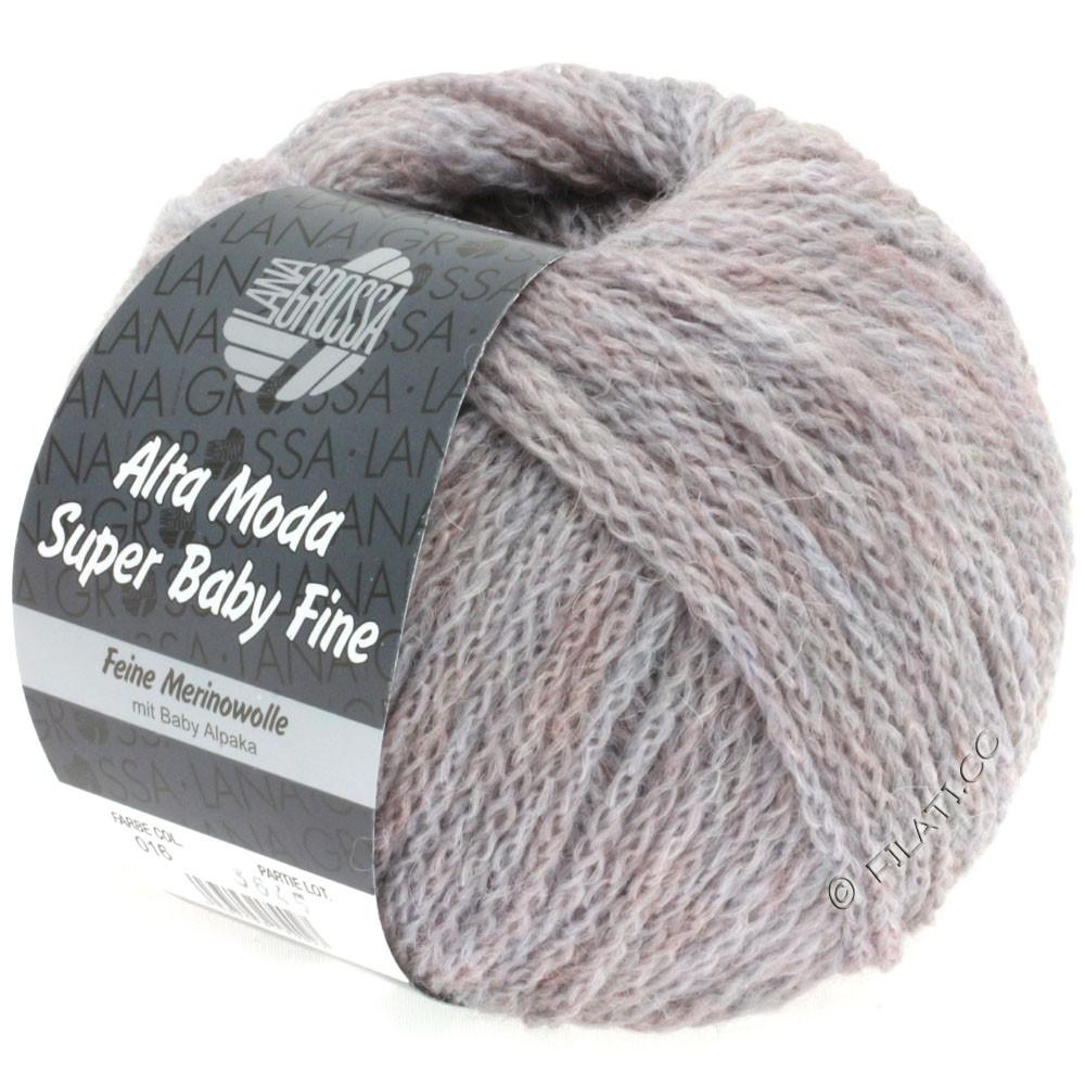 Lana Grossa ALTA MODA SUPER BABY FINE Uni | 16-розово-серый меланжевый