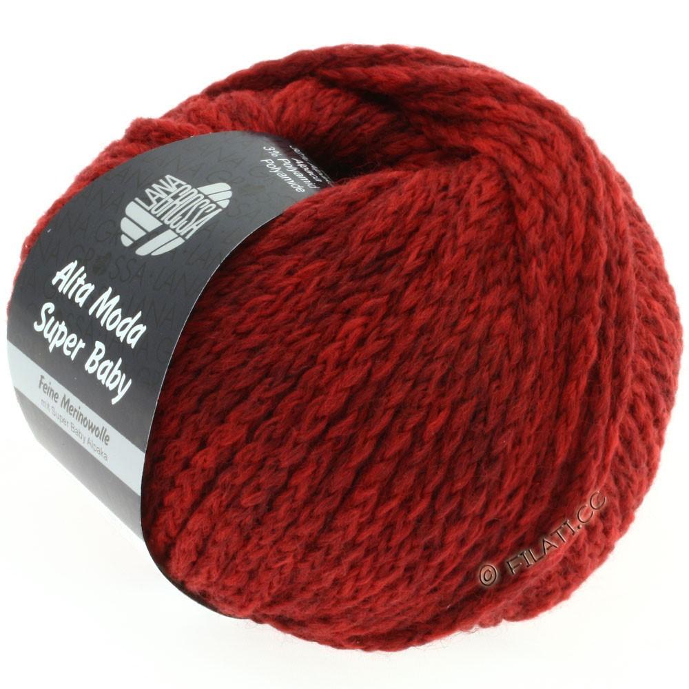 Lana Grossa ALTA MODA SUPER BABY Jaspè | 012-тёмно-красный меланжевый