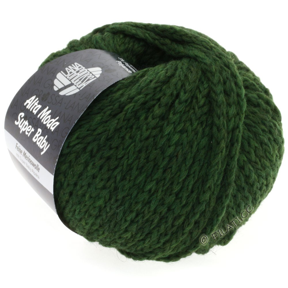 Lana Grossa ALTA MODA SUPER BABY  Uni   013-тёмно-зелёный