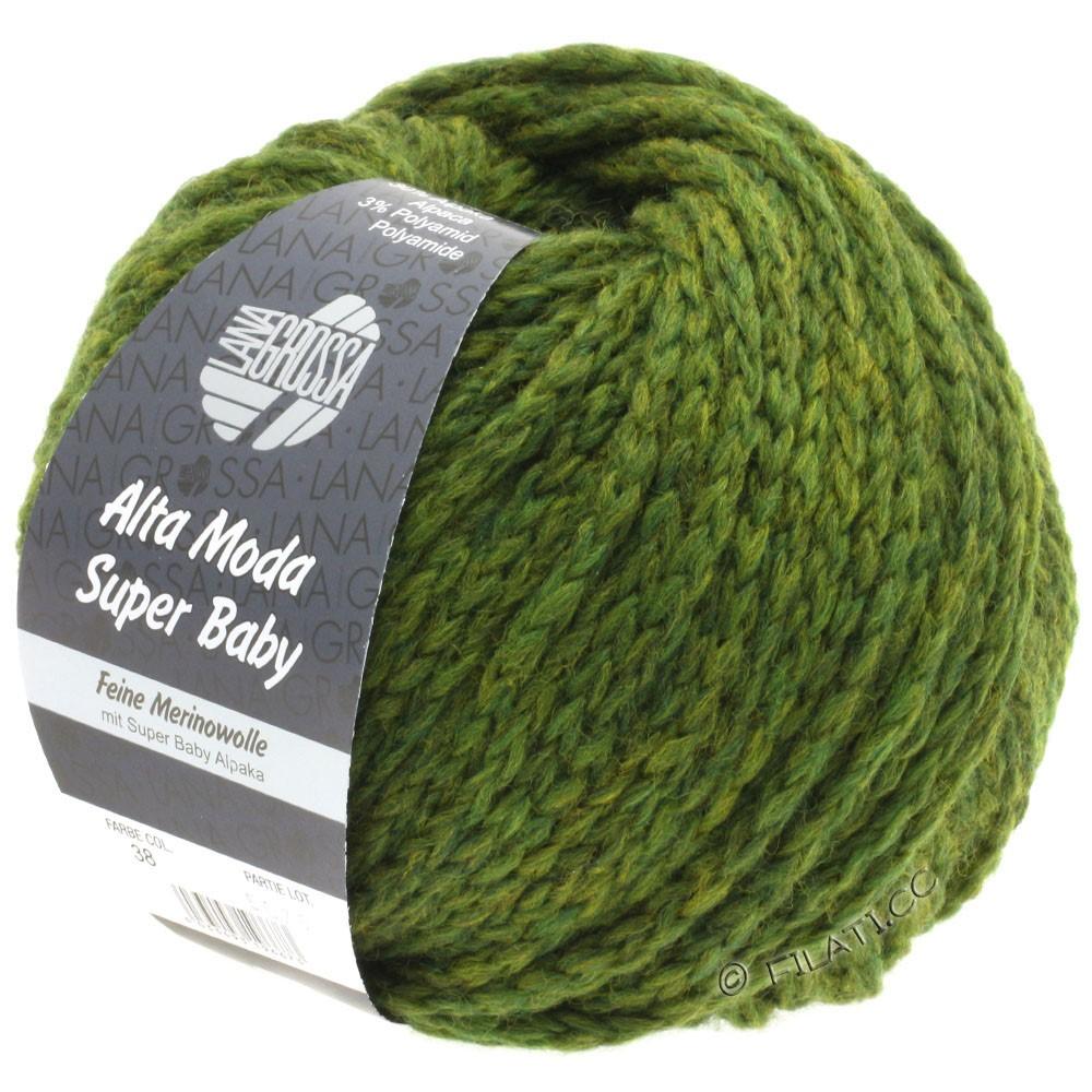 Lana Grossa ALTA MODA SUPER BABY  Uni | 038-оливково-зелёный