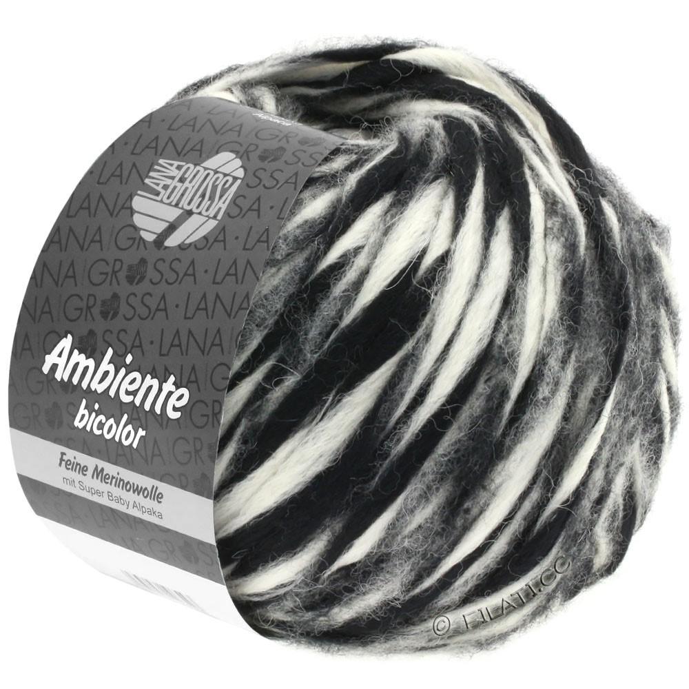 Lana Grossa AMBIENTE Bicolor | 105-чёрный/чисто-белый