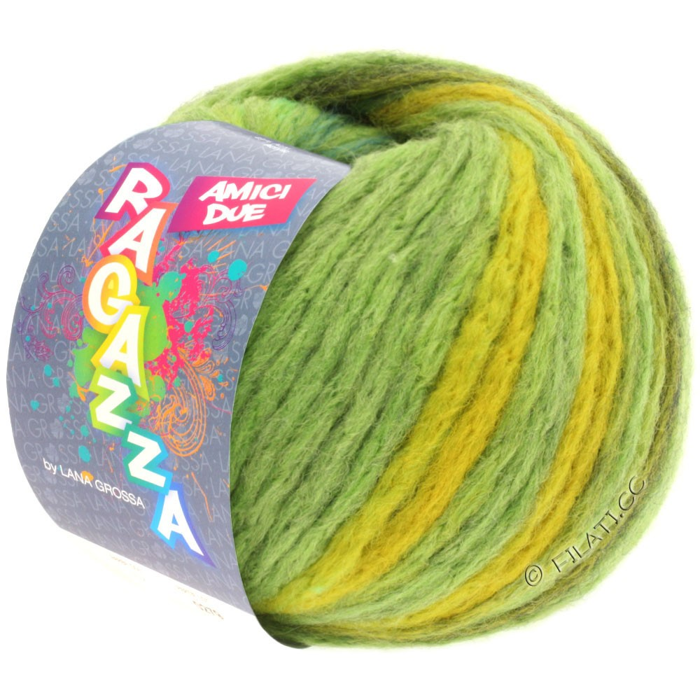 Lana Grossa AMICI DUE (Ragazza) | 101-светло-зелёный/серо-зеленый