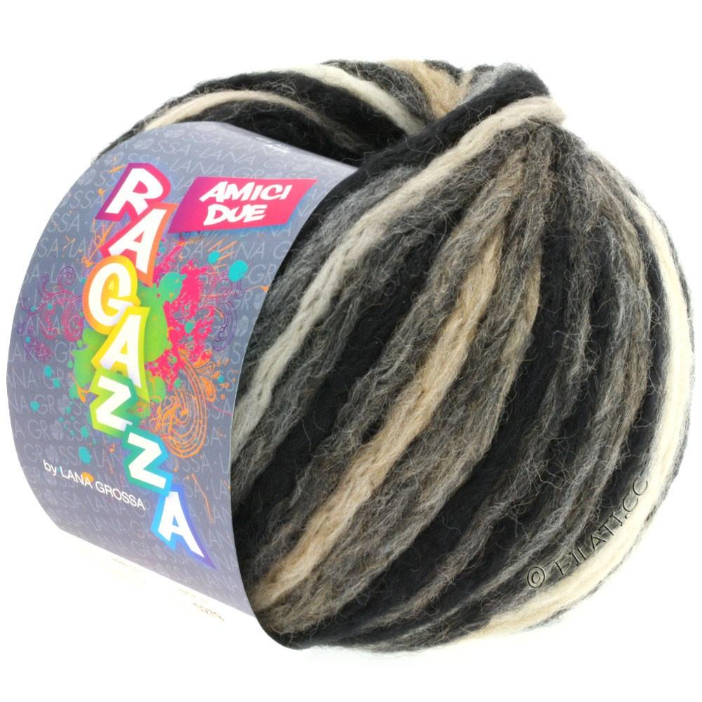 Lana Grossa AMICI DUE (Ragazza) | 106-черный/серый/беж/чисто-белый