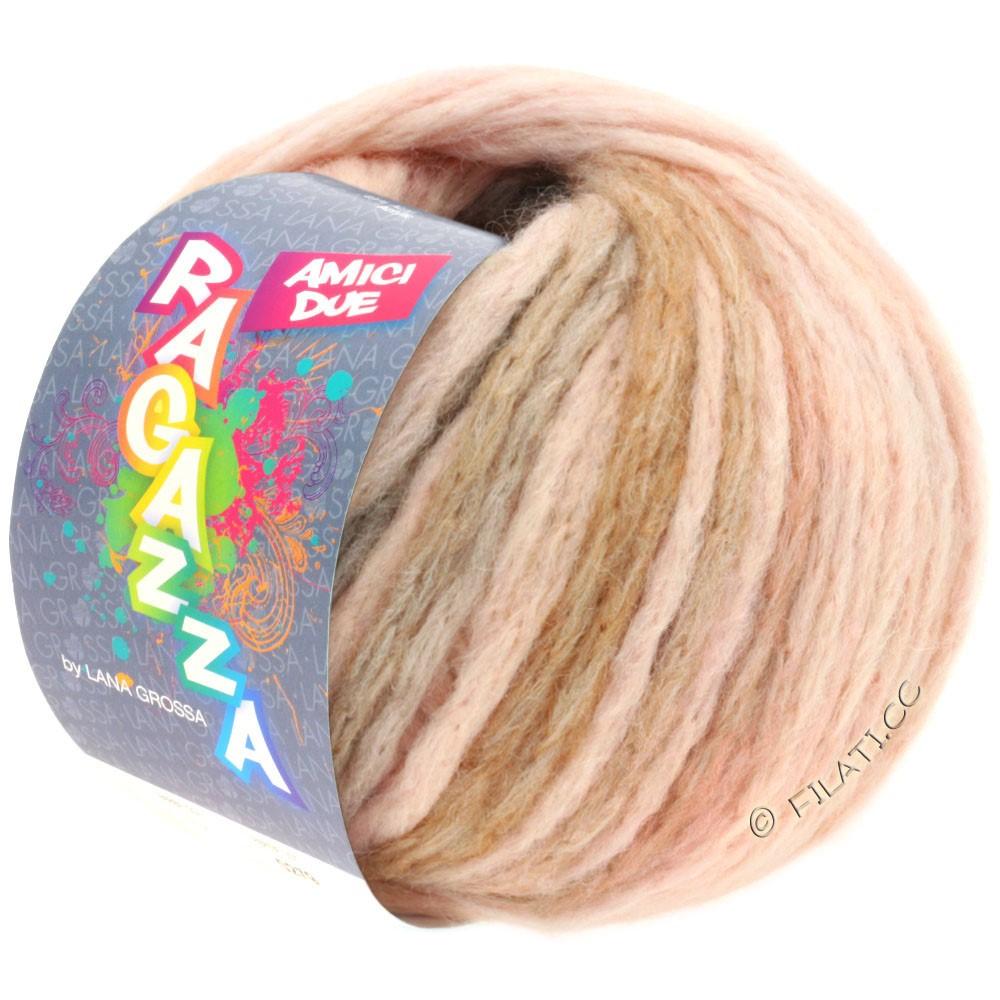 Lana Grossa AMICI DUE (Ragazza) | 109-розовый/светло-серый/коричневый
