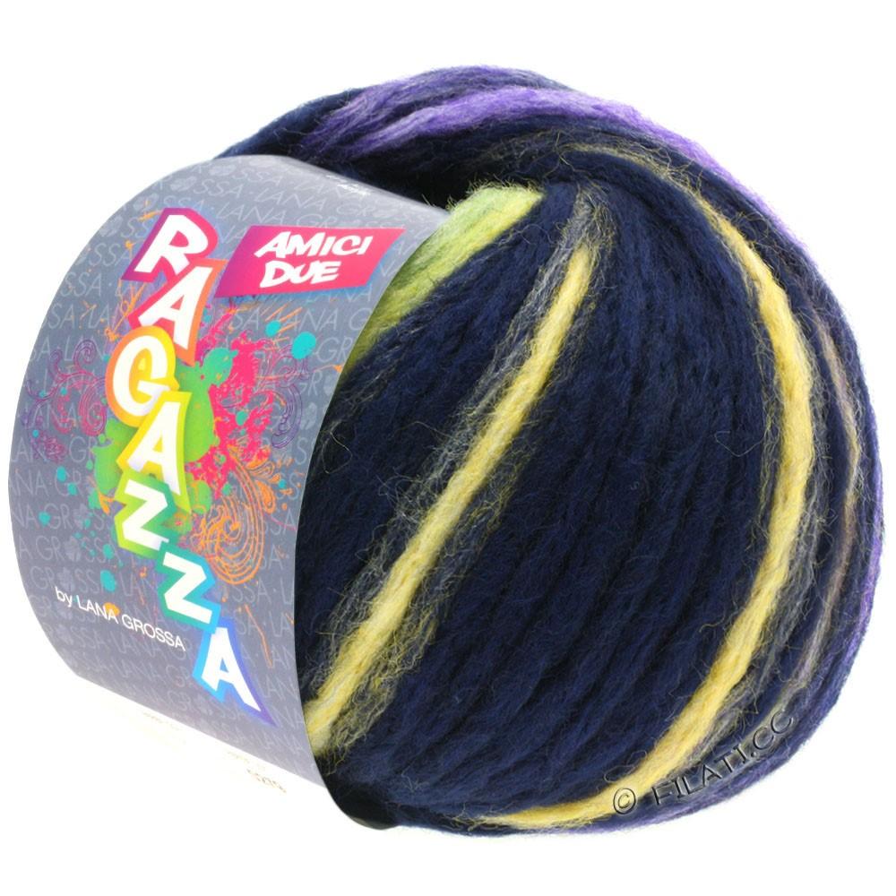 Lana Grossa AMICI DUE (Ragazza) | 116-синий, как ночь/желтый/пинк/фиолетовый/светло-зеленый
