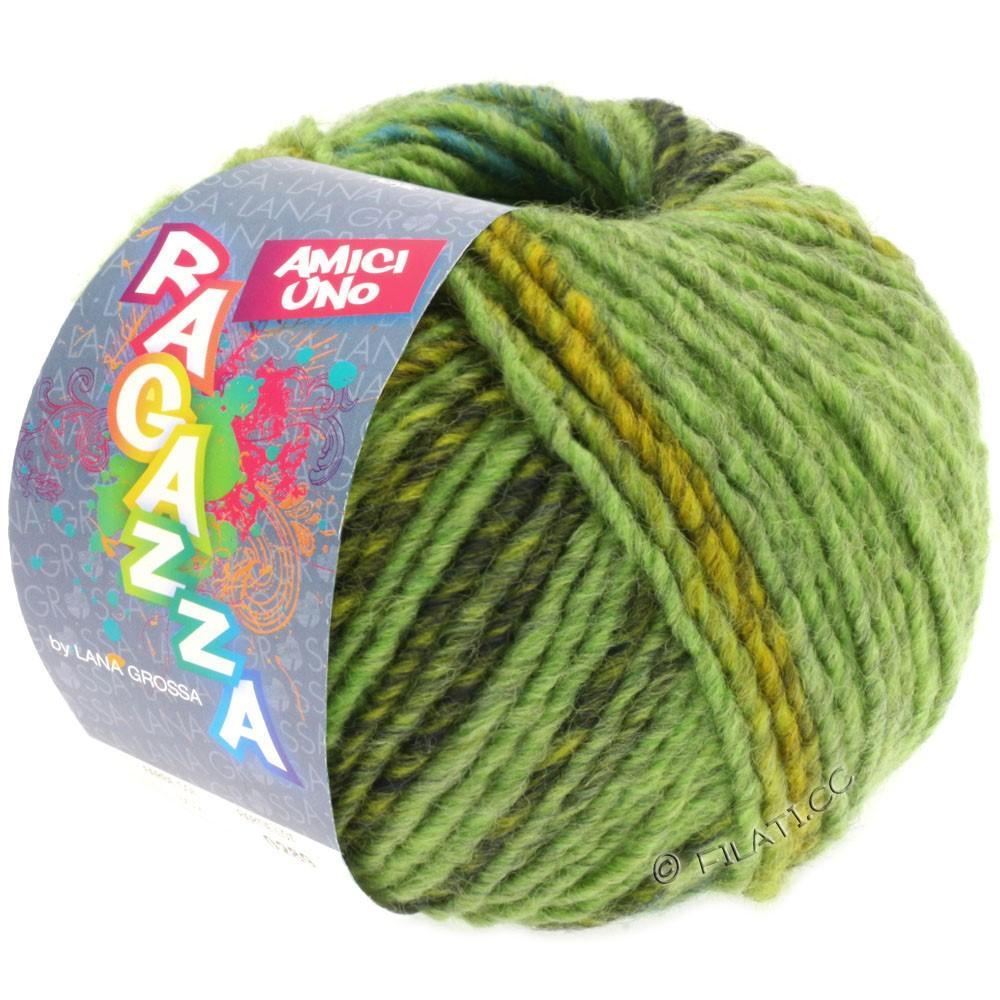 Lana Grossa AMICI UNO (Ragazza) | 301-светло-зелёный/жёлто-зеленый/тёмно-зелёный
