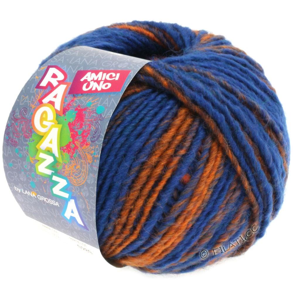 Lana Grossa AMICI UNO (Ragazza) | 303-синий/медь