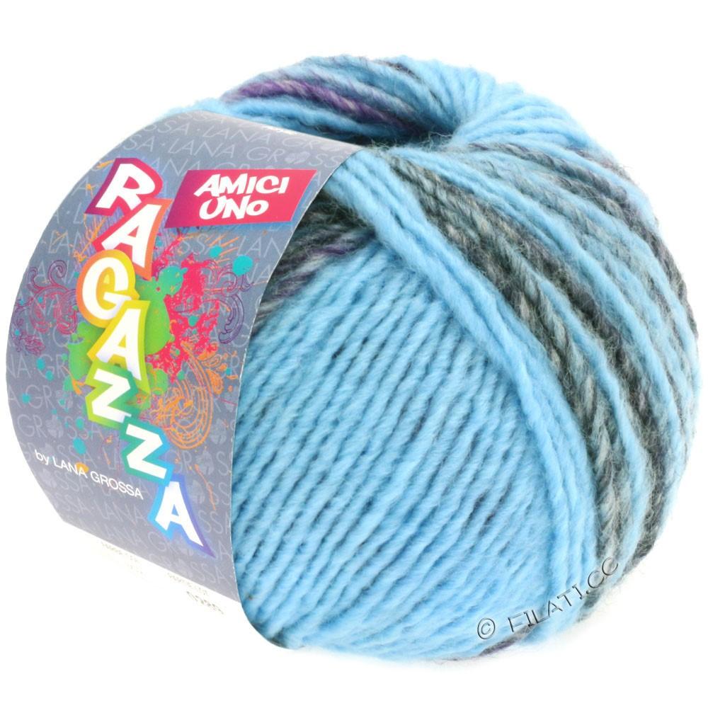 Lana Grossa AMICI UNO (Ragazza) | 310-светло-голубой/пурпурный/антрацитовый/коричневый/синий