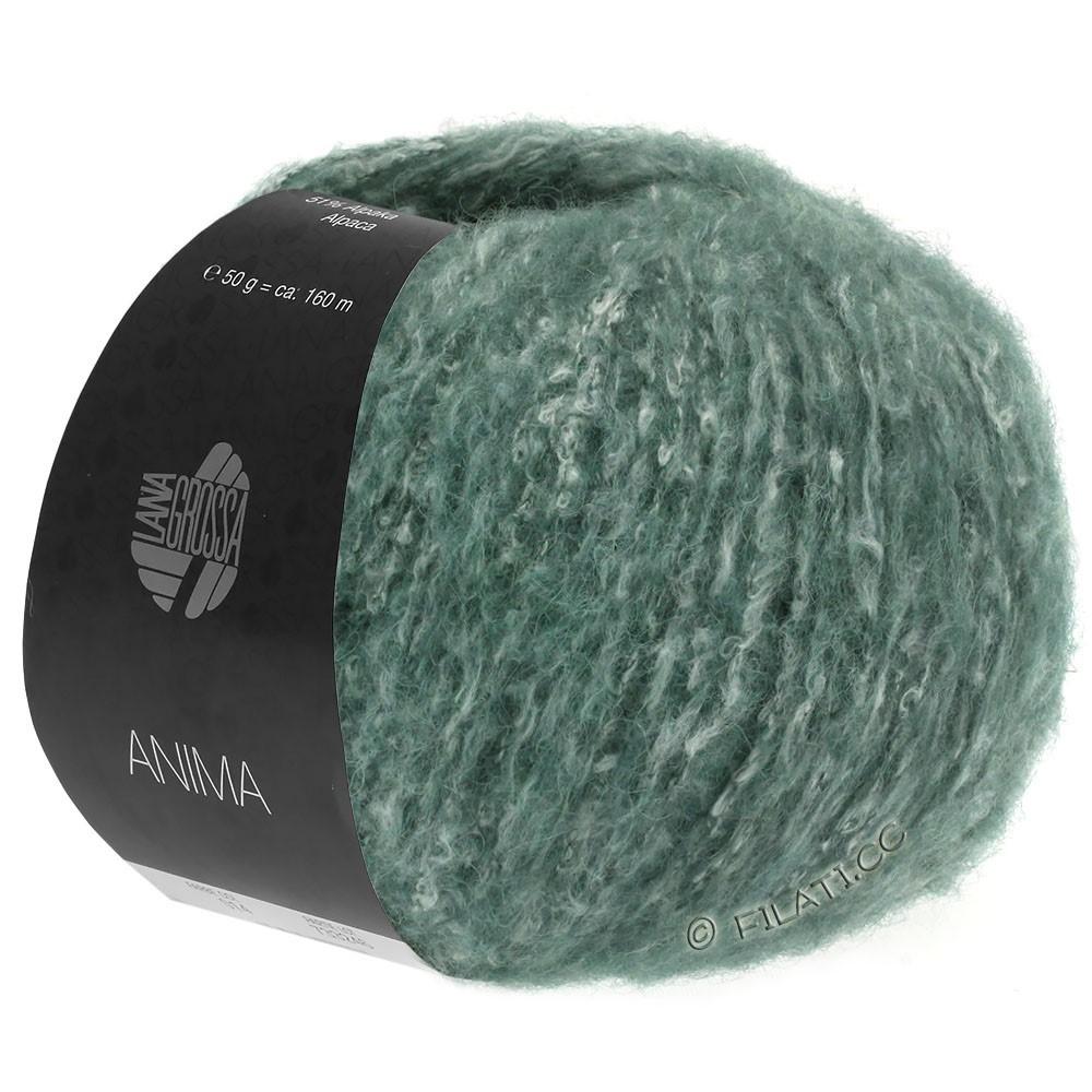 Lana Grossa ANIMA | 03-тёмно-зелёный меланжевый