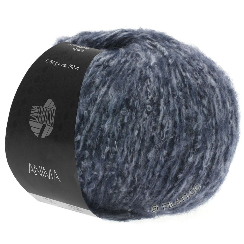 Lana Grossa ANIMA | 08-тёмно-синий меланжевый
