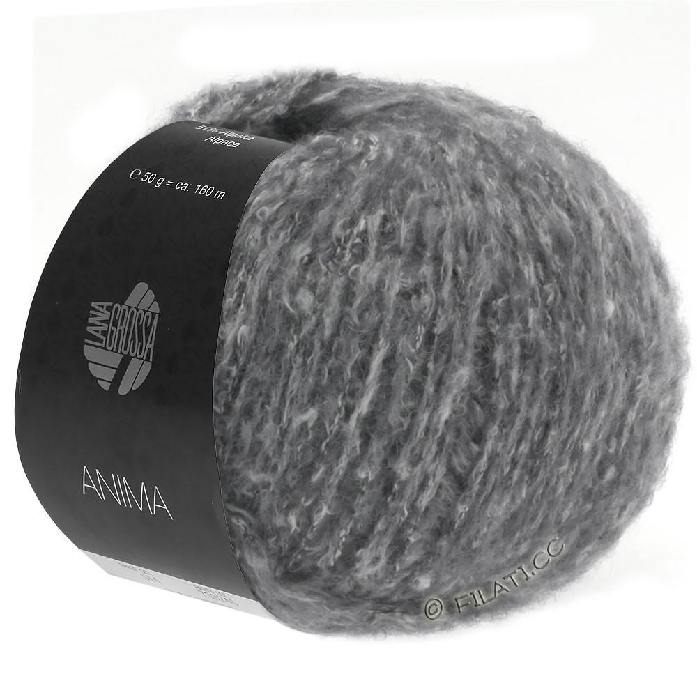 Lana Grossa ANIMA | 10-тёмно-серый меланжевый