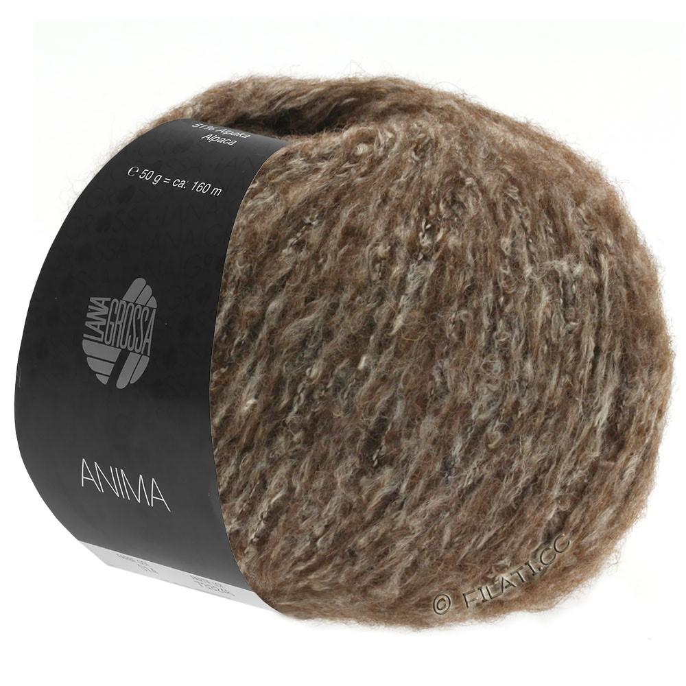 Lana Grossa ANIMA | 12-тёмно-коричневый меланжевый