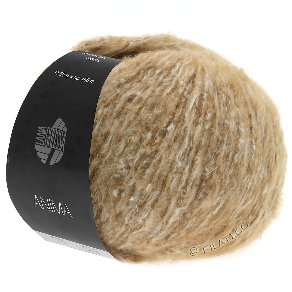 Lana Grossa ANIMA | 13-легко коричневый меланжевый