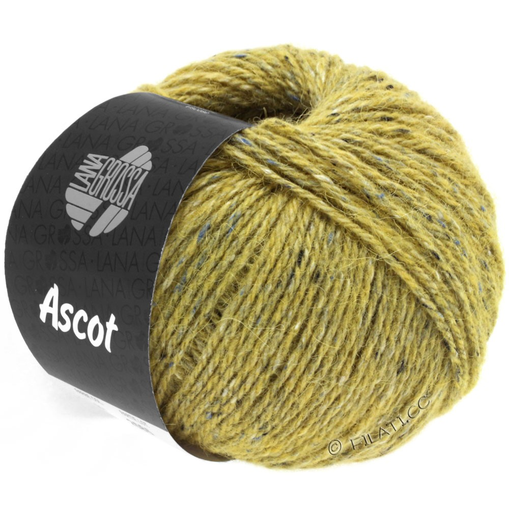 Lana Grossa ASCOT | 20-горчично-желтый меланжевый