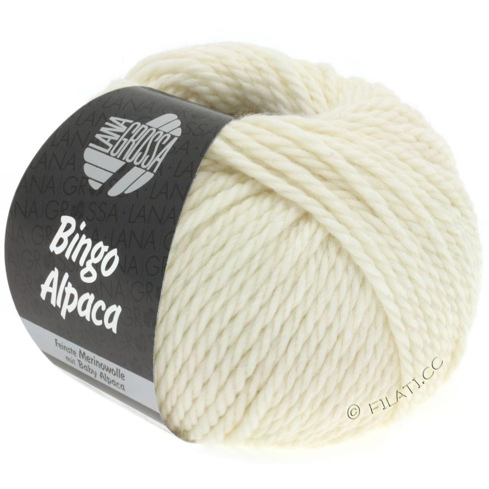 Lana Grossa BINGO ALPACA Uni | 01-чисто-белый