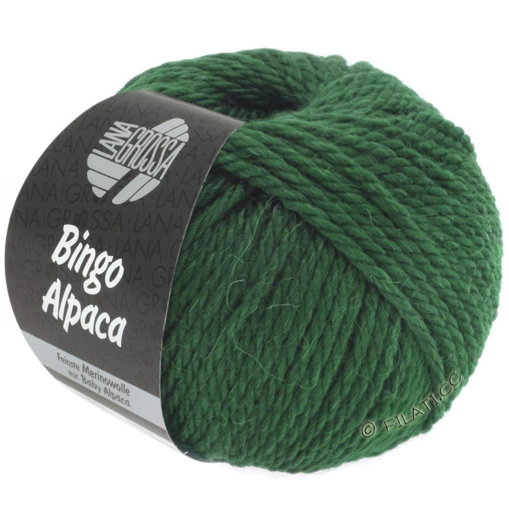 Lana Grossa BINGO ALPACA Uni | 10-тёмно-зелёный