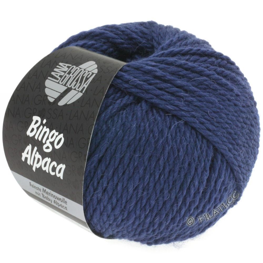 Lana Grossa BINGO ALPACA Uni | 11-тёмно-синий