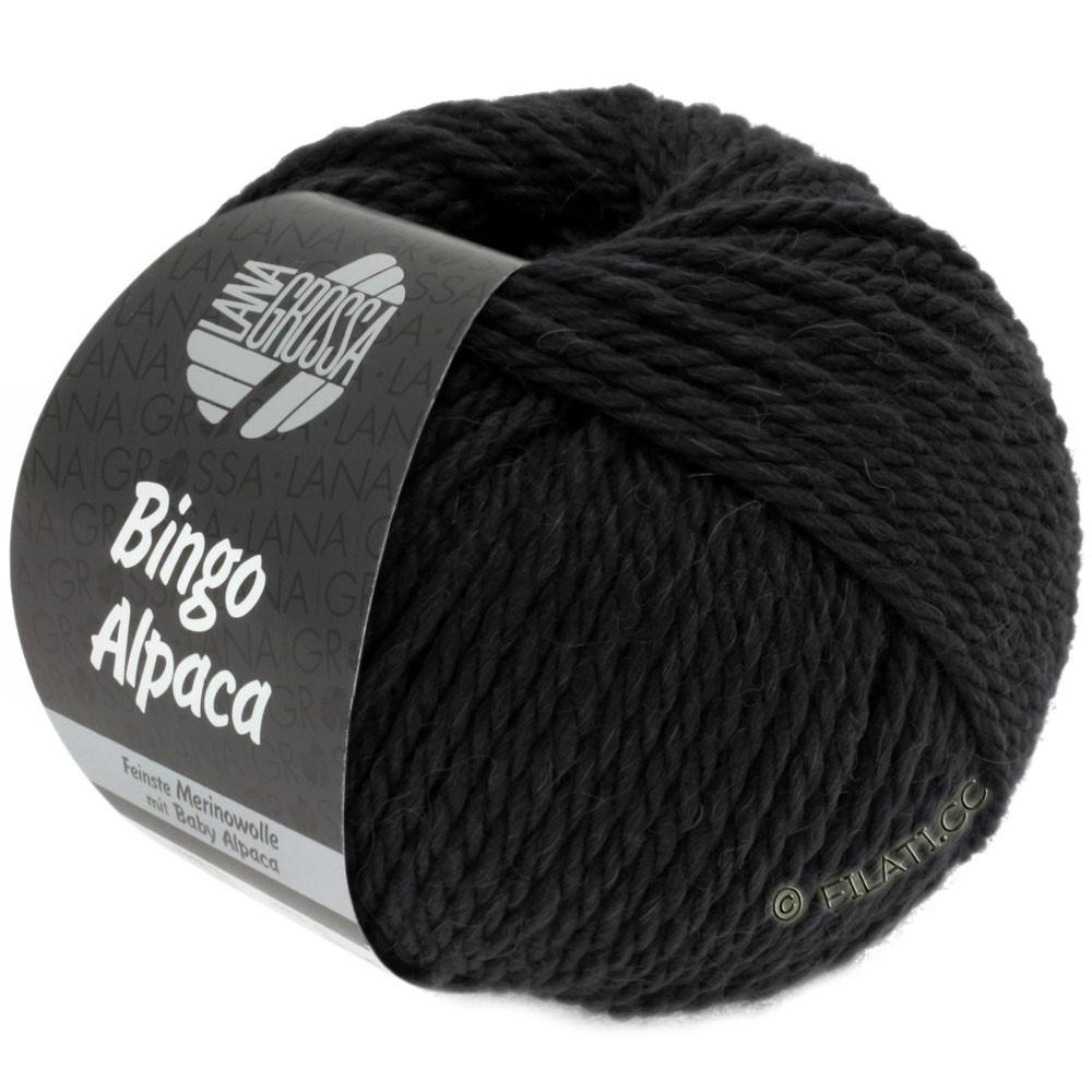Lana Grossa BINGO ALPACA Uni | 14-чёрный