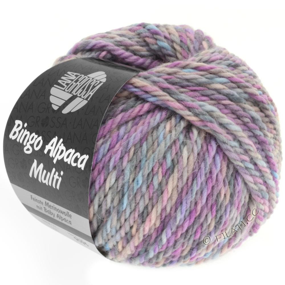 Lana Grossa BINGO ALPACA Multi | 101-розовый/пурпурный/светло-голубой/серый