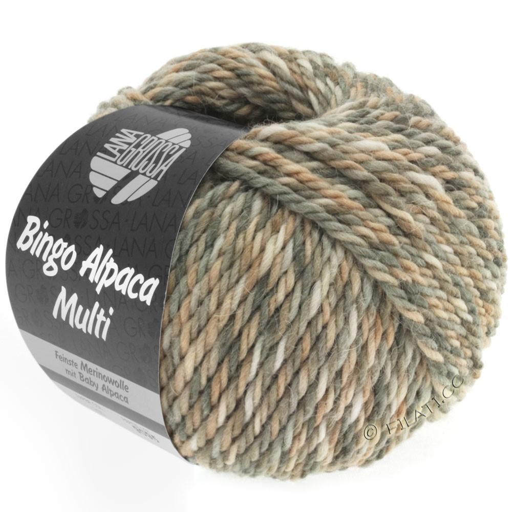 Lana Grossa BINGO ALPACA Multi | 102-серо-коричневый/бежевый/натуральный/серо- бежевый/песок