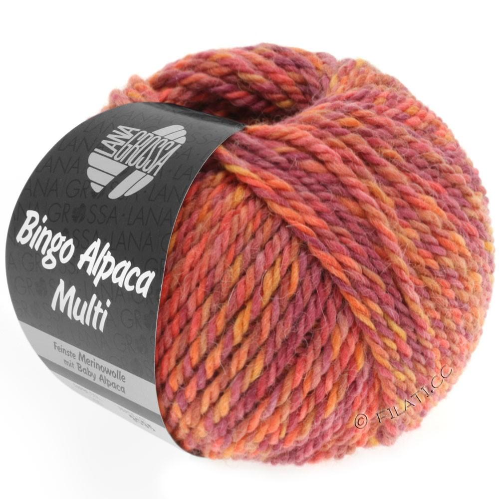 Lana Grossa BINGO ALPACA Multi | 104-светло-красный/оранжевый/цикламеновый/помидор